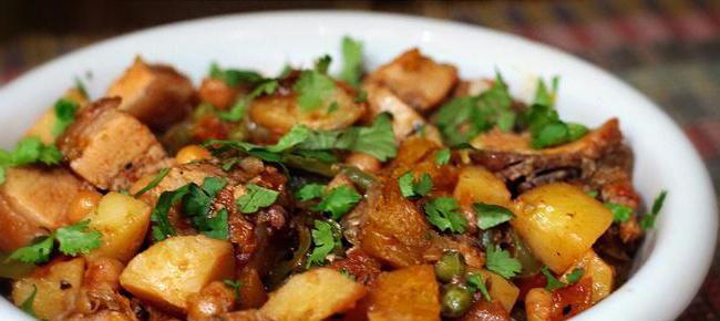 Жаркое из свинины с картошкой в мультиварке рецепт с фото